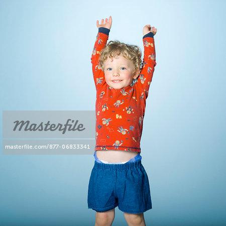 little boy in pajamas