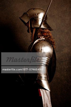 knight guard the citadel stock photo masterfile rights