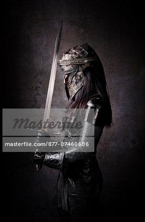 Profile of female knight