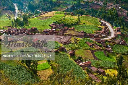 South America, Peru, Cuzco region, Urubamba Province, Inca sacred valley, view on Pisac