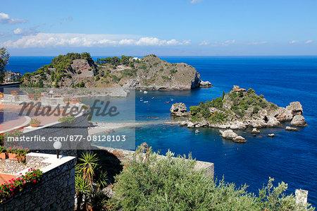 Italy, Sicily, province of Messina, Taormina, Isola bella