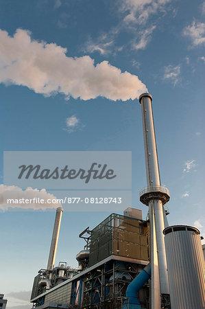 France. Paris region. Val-de-Marne. Ivry-sur-Seine. The refuse processing factory of the SYCTOM