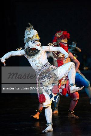 Ramayana ballet in Prambanan temple, Jogyakarta, Java island, Indonesia, South East Asia