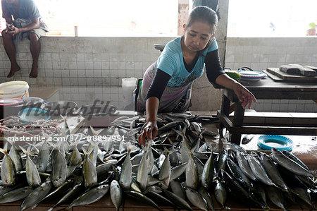 South-East Asia, Malaysia, Borneo, Sabah, Kota Kinabalu, fish market