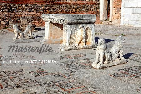 Turkey, province of Manisa (east of Izmir), Sardes (Sart or Sardis), of gymnasium site, the synagogue