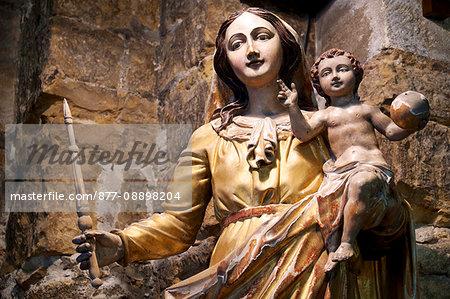 France, Southern France, Gard, Camargue, Saintes Maries de la Mer, statue in the church.