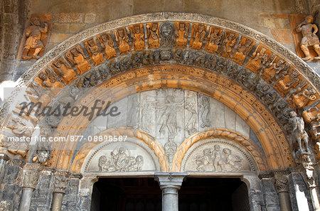 France, Aquitaine, Pyrenees Atlantiques, Oloron-sainte-Marie, Sainte Marie area, Sainte-Marie cathedral, Unesco world heritage as road to Santiago de Compostela