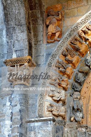France, Aquitaine, Pyrenees Atlantiques, Oloron-sainte-Marie, Sainte Marie area, Sainte-Marie cathedral, Unesco world heritage as road to Santiago de Compostela, the portal