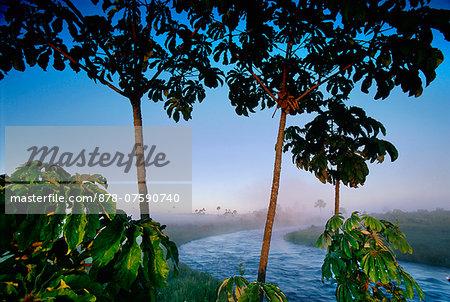 Emas river at dawn, Emas National Park, Brazil