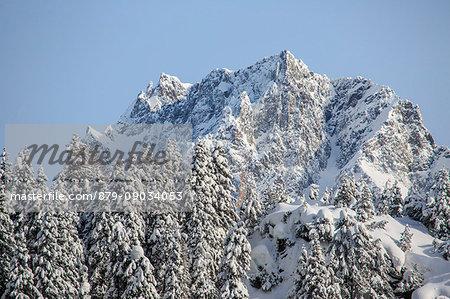 Lunghin Peak after a heavy snowfall. Canton of Graubunden. Maloja Pass. Engadine. Switzerland. Europe
