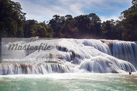 Agua Azul Waterfalls, Chiapas, Mexico.