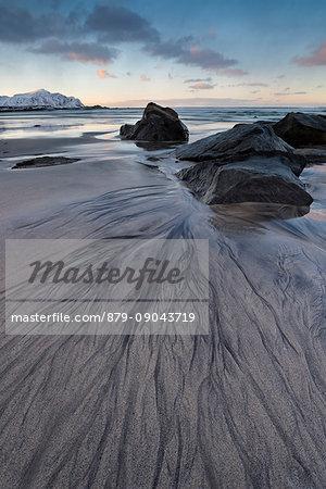 Skagsanden beach,Flakstad - Lofoten Islands,Norway