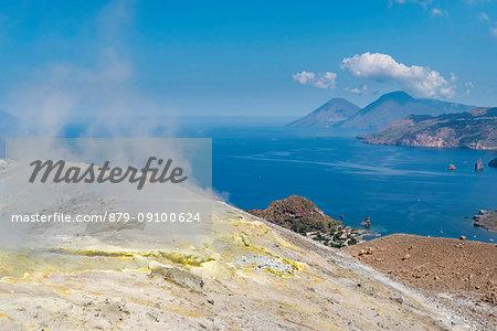 Volcano, Messina district, Sicily, Italy, Europe.