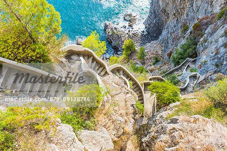 Praiano, Amalfi coast, Salerno, Campania, Italy.