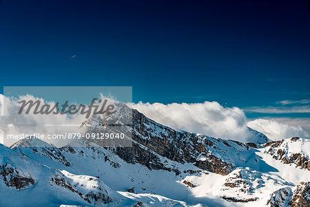 Cefalone's Peak into the cloud, Campo Imperatore, L'Aquila province, Abruzzo, Italy, Europe
