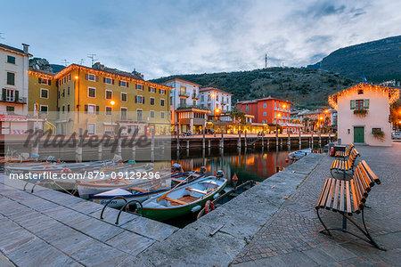 Small port an Torbole Europe, Italy, Trentino region, Trento district, Torbole
