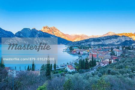 Torbole at sunrise Europe, Italy, Trentino, Torbole, Garda lake