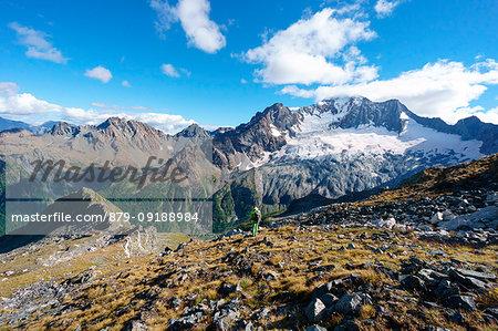 The North Face of Mount Disgrazia seen from Del Grande Camerini Refuge, Chiareggio, Valmalenco, Province of Sondrio, Lombardy, Italy