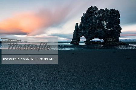 sunset at Hvitserkur, Norduland vestra, Northen Iceland, Europe