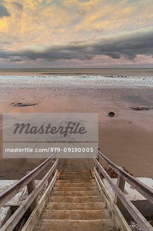 Sunset at Koekohe Beach. Hampden, Waitaki district, Otago region, South Island, New Zealand.