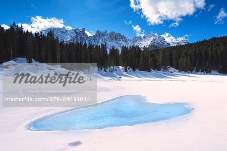 Carezza lake, Bolzano province, Trentino Alto Adige, Italy.