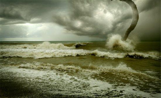 ocean tornado storm (3D used) Stock Photo - Royalty-Free, Artist: vicnt, Image code: 400-04040948