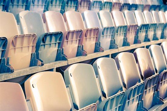 old faded Stadium Seats Stock Photo - Royalty-Free, Artist: epstock, Image code: 400-04204680