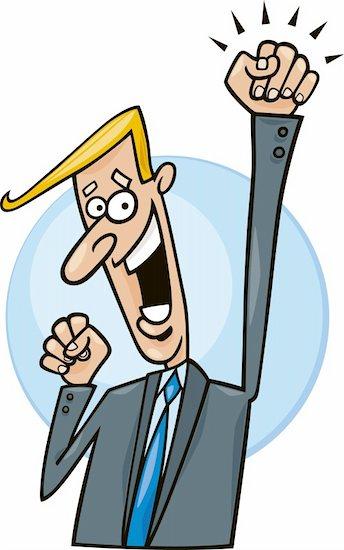 Cartoon illustration of successful businessman Stock Photo - Royalty-Free, Artist: izakowski, Image code: 400-04214903