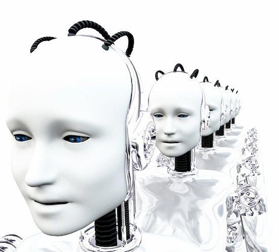 An image of a set of technologically robotic women. Stock Photo - Royalty-Free, Artist: harveysart, Image code: 400-04449610