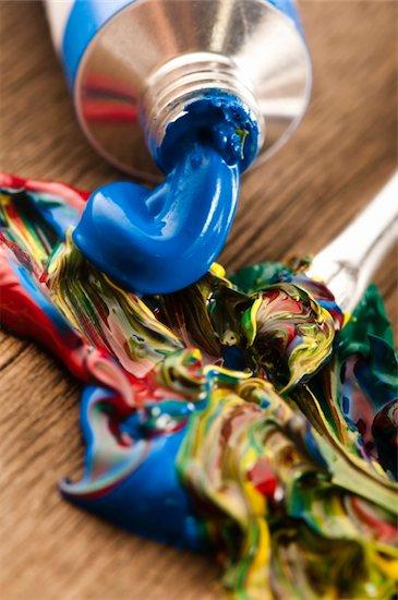 mixing paints. background Stock Photo - Royalty-Free, Artist: joannawnuk, Image code: 400-05692749