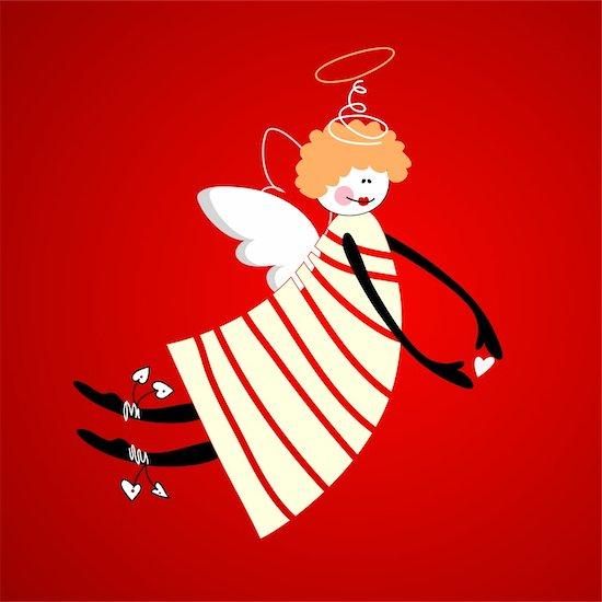 Angel of love, happiness and harmony. Vector. Stock Photo - Royalty-Free, Artist: antoshkaforever, Image code: 400-05733003