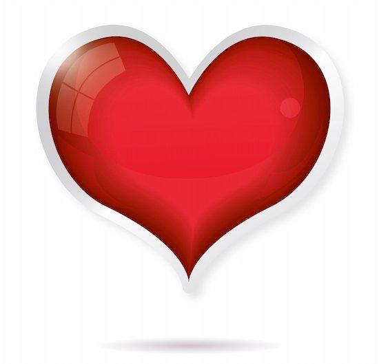 valentine heart vector illustration on white background isolated Stock Photo - Royalty-Free, Artist: BooblGum, Image code: 400-05886345