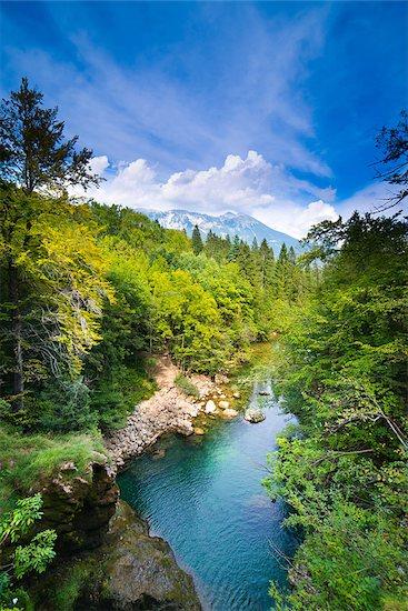 Julian Alps in Slovenia - ultra wide photo Stock Photo - Royalty-Free, Artist: furzyk73, Image code: 400-06697750