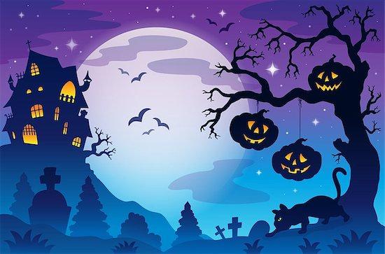 Halloween theme image 9 - eps10 vector illustration. Stock Photo - Royalty-Free, Artist: clairev, Image code: 400-07048130