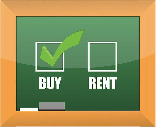 Buy not rent blackboard concept illustration design Stock Photo - Royalty-Free, Artist: Alexmillos, Image code: 400-07106239