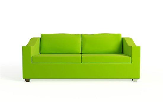Modern sofa. Isolated on white background.3d rendered. Stock Photo - Royalty-Free, Artist: rukanoga, Image code: 400-07625794