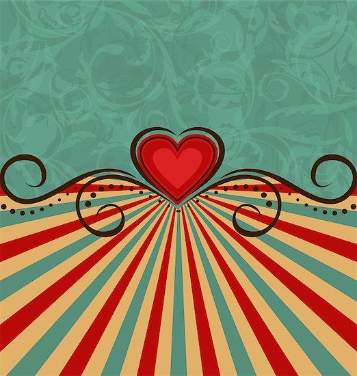 Illustration Valentine's Day vintage background - vector Stock Photo - Royalty-Free, Artist: smeagorl, Image code: 400-07631692
