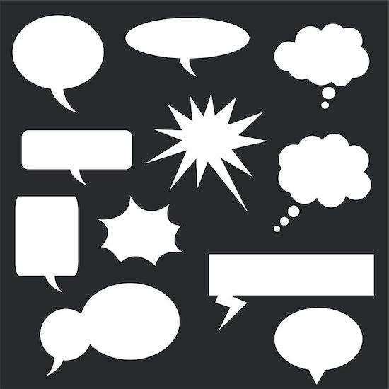 Speech bubbles set Stock Photo - Royalty-Free, Artist: nezezon, Image code: 400-07632786