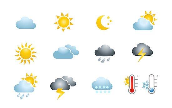 Weather Icons Stock Photo - Royalty-Free, Artist: nezezon, Image code: 400-07632787