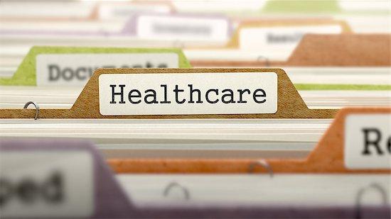 Healthcare - Folder Register Name in Directory. Colored, Blurred Image. Closeup View. Stock Photo - Royalty-Free, Artist: tashatuvango, Image code: 400-08297838