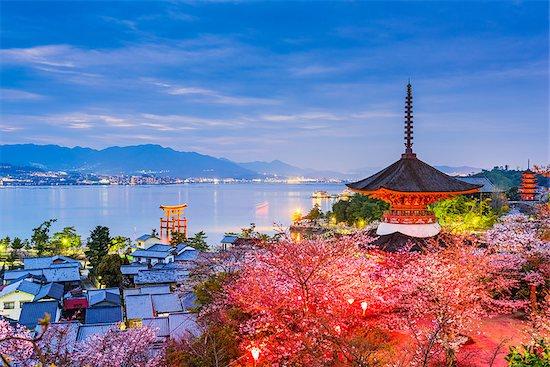 Miyajima Island, Hiroshima, Japan in spring. Stock Photo - Royalty-Free, Artist: sepavo, Image code: 400-09064548