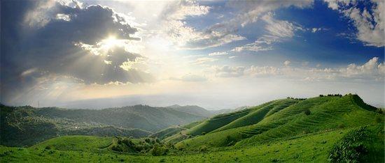 Kazakhstan, Almaty city environment. Foothills of Tian-Shan. Panorama of 6 shot. Hills have terraces. Stock Photo - Royalty-Free, Artist: Vasca, Image code: 400-03913545