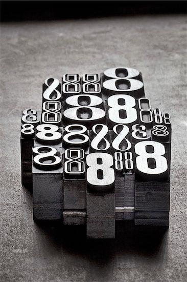 Metal Letterpress Number 8's Stock Photo - Premium Royalty-Free, Artist: Daryl Benson, Image code: 600-05524429
