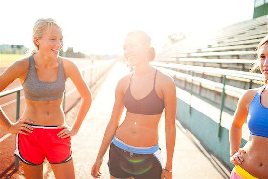 Girls at Running Track Stock Photo - Premium Royalty-Free, Artist: Ty Milford, Image code: 600-06334244
