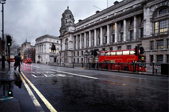 Bus Lane in London Stock Photo - Premium Royalty-Free, Artist: Atli Mar Hafsteinsson, Image code: 600-06702150