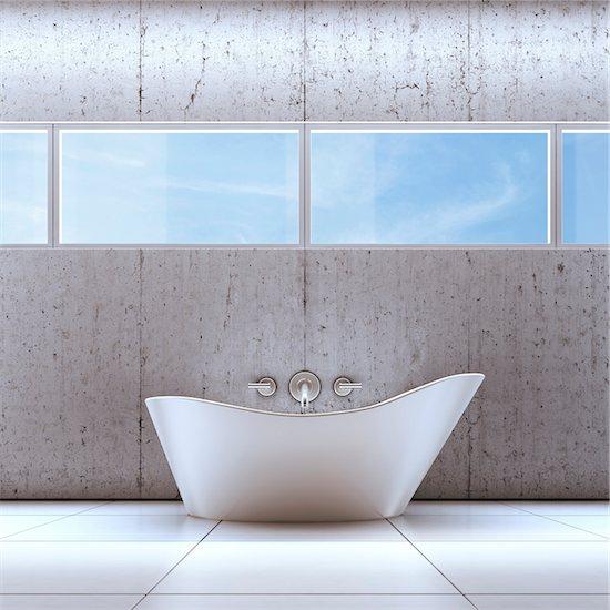 3D-Illustration of Bathtub Stock Photo - Premium Royalty-Free, Artist: Huber-Starke, Image code: 600-06808780