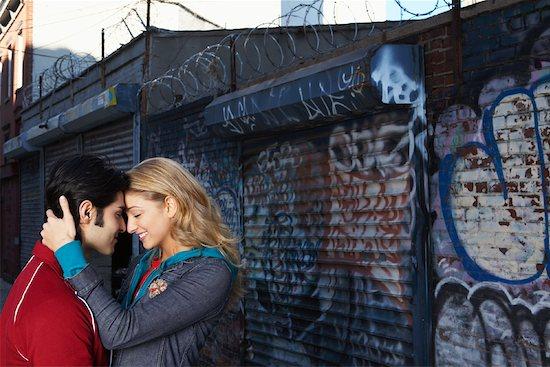Couple Kissing Stock Photo - Premium Royalty-Free, Artist: Masterfile, Image code: 600-01184554