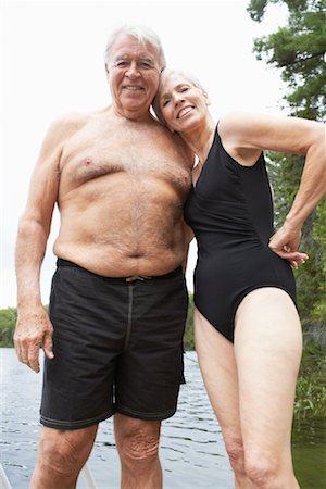 Older senior chubby men