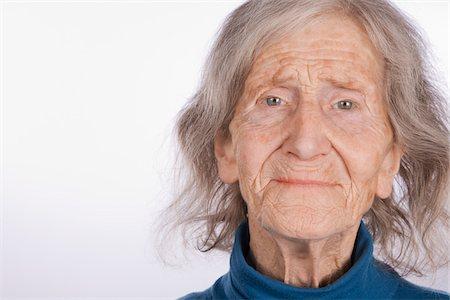 Skinny old lady