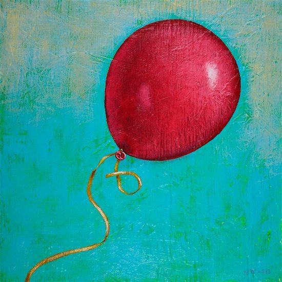 Illustration of Red Balloon Stock Photo - Premium Royalty-Free, Artist: James Wardell, Image code: 600-03587201